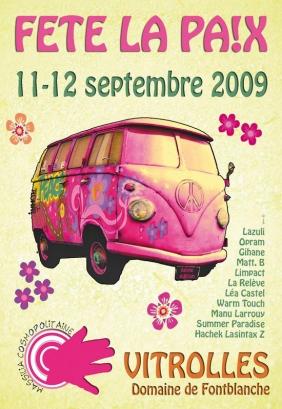 Affiche fête la paix 2009